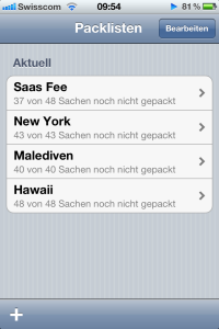 PackingList App
